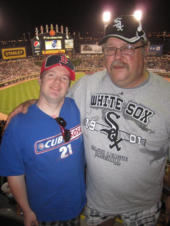 Dan and Chef Jim Denvir at the White Sox Game