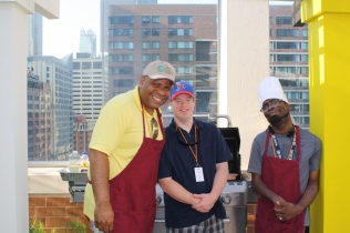 Greg, Dan & Hector ran the grill for the TVC Rooftop BBQ at Ronald McDonald House