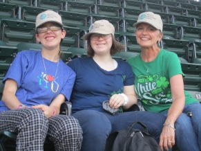 Jackie, Karina & Marty arrived early for the White Sox game ready to cheer on the home team!
