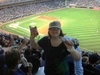 Karina was an excellent host of TVC Night at the Ballpark.