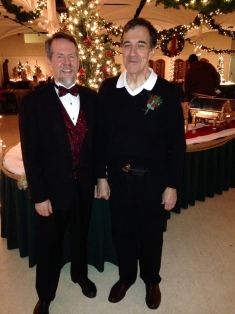 Festive Photo: Trinity Volunteer Steve with featured concert performer.