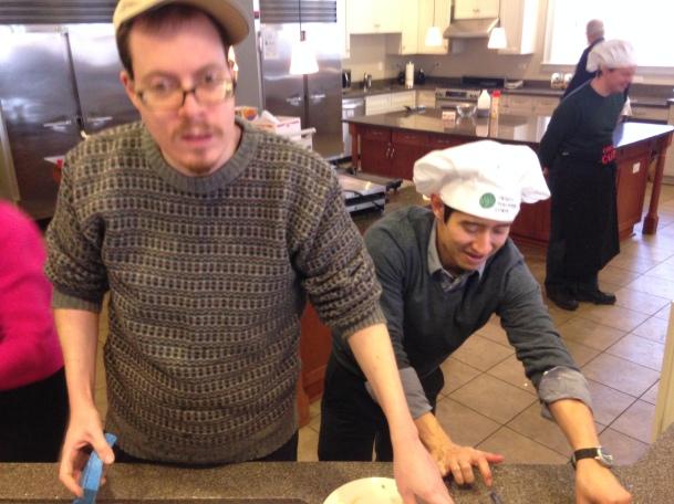 Derek lent his considerable dish washing skills to the VC14 Pancake Breakfast