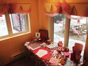 Fourth Anniversary for Grandma Mary's Valentine Making Station at Loyola RMH --- this is where it all started!