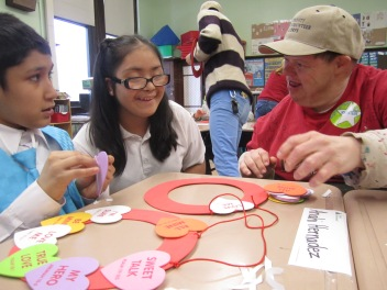 Gary School students responded so well to our Trinity Volunteers from the Arts of Life who had great arts & crafts skills to share with the classroom.