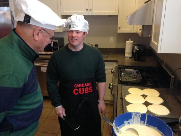 Griddle Men for VC14 Pancake Breakfast at Comer RMH