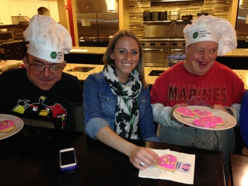 Mike and Dave enjoyed sharing the cookies they made for Valentine Cheer 2014 at the Ronald McDonald House