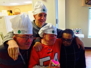 Mike, Steve, Dave & Walter brought Valentine Cheer to the Ronald McDonald House near Loyola Medical Center for VC14.