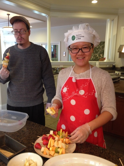 Shelley & Derek make bright & beautiful fruit kabobs