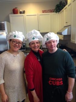 Shelley, Marty & Dan making breakfast at the Ronald McDonald House
