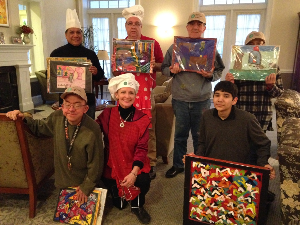 TVC & Arts of Life made dinner and decorated Hyde Park RMH for Valentine Cheer 2014